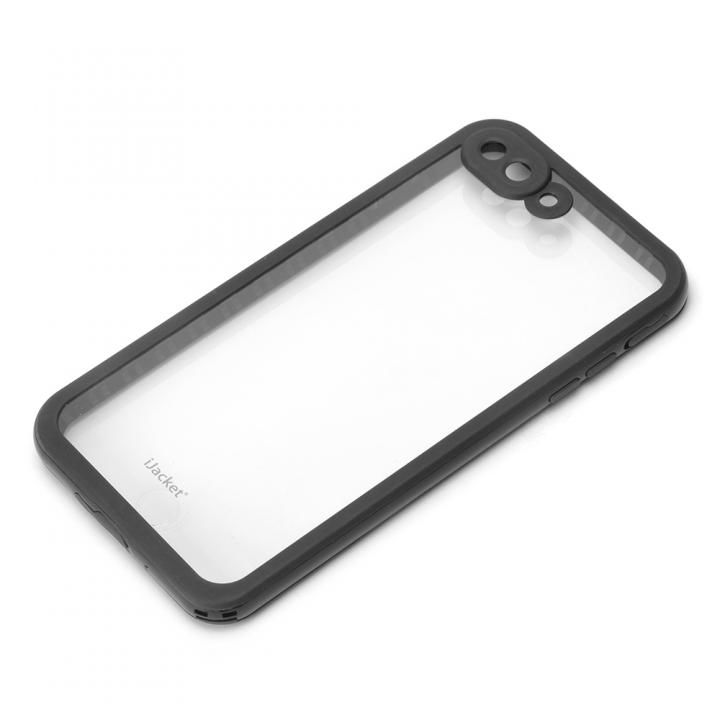 [2018新生活応援特価]iJacket IP68防水 耐衝撃ケース ブラック iPhone 7 Plus
