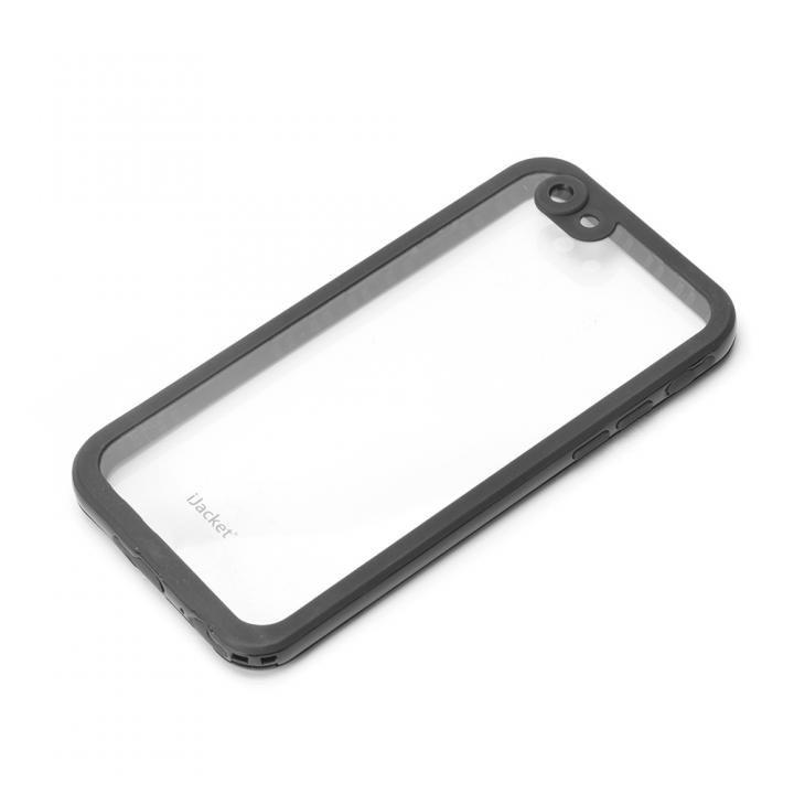 iPhone6s/6 ケース iJacket IP68防水 耐衝撃ケース ブラック iPhone 6s/6_0