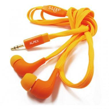靴ヒモコードイヤフォン117 orange