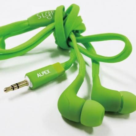 靴ヒモコードイヤフォン117 pastel green