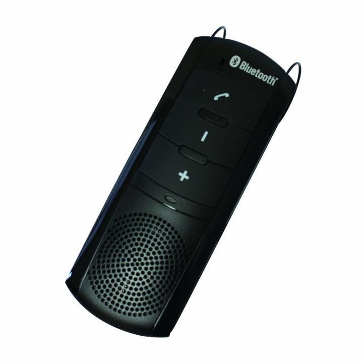 【ワイヤレススピーカーフォン】 Bluetooth 車載 サンバイザー ブラック_0