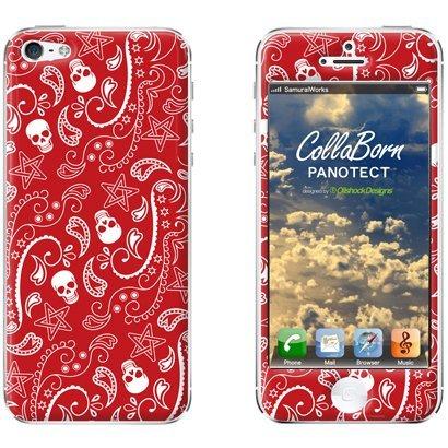 【iPhone SE/5s/5ケース】デザイン背面スキンシール Mad Paisley iPhone 5シール_0