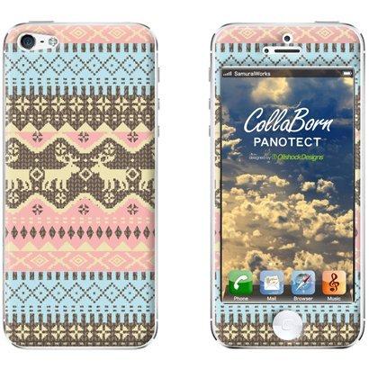 【iPhone SE/5s/5ケース】デザイン背面スキンシール Fair lsle_PurePink iPhone 5シール_0