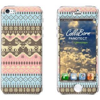iPhone SE/5s/5 ケース デザイン背面スキンシール Fair lsle_PurePink iPhone 5シール