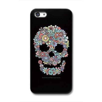 iPhone SE/5s/5 ケース CollaBorn デザインケース Flower Skull iPhone 5 ケース_0
