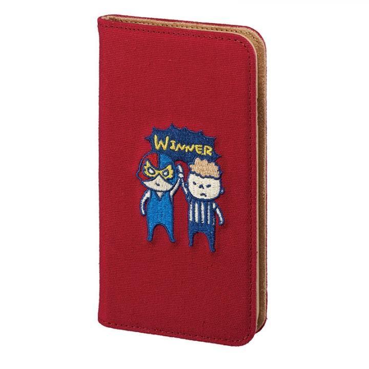 【iPhone8/7/6s/6ケース】KUSUKUSU CAT FLIP 手帳型ケース レスラーレッド iPhone 8/7/6s/6【12月下旬】_0
