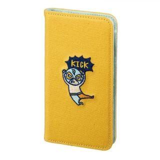 iPhone8/7/6s/6 ケース KUSUKUSU CAT FLIP 手帳型ケース レスラーイエロー iPhone 8/7/6s/6