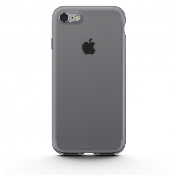 【iPhone8/7ケース】AndMesh Plain Case クリアクリアブラック iPhone 8/7_0