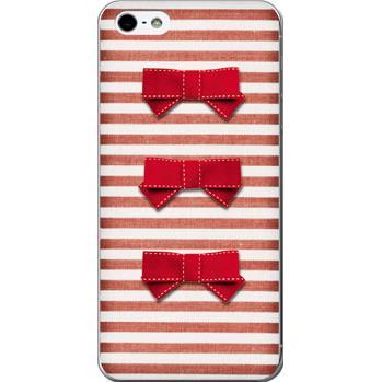iPhone SE/5s/5 ケース デコレウェア 3連リボンレッド iPhone 5ケース_0