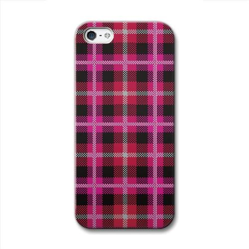 iPhone SE/5s/5 ケース CollaBorn  iPhone5 Tartan_Red_0
