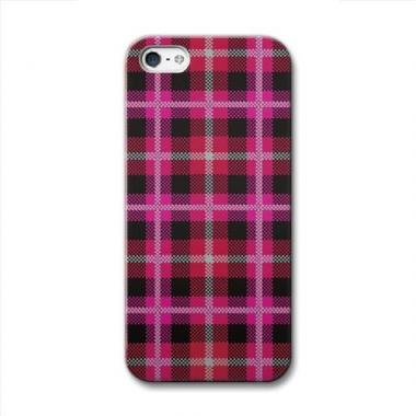 【iPhone SE/5s/5ケース】CollaBorn  iPhone5 Tartan_Red
