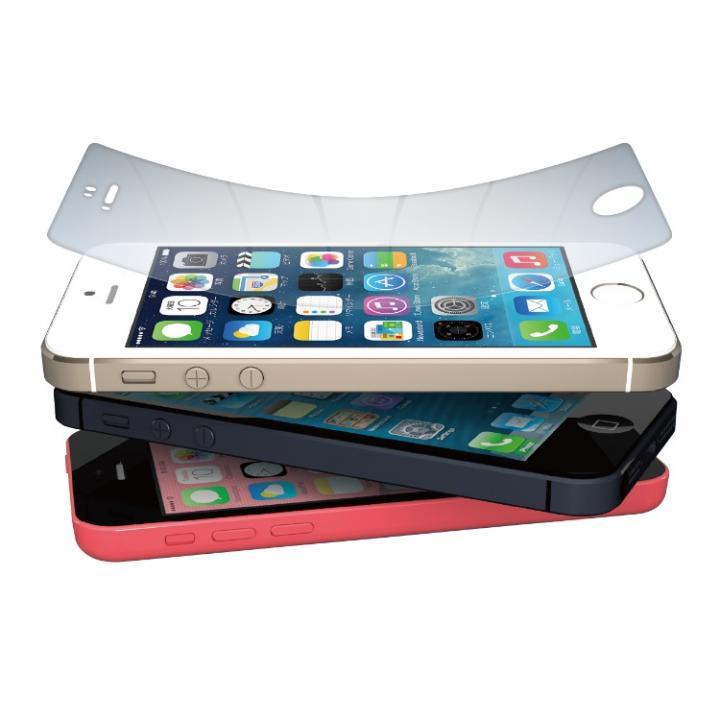 iPhone SE/5s/5 フィルム 高硬度9Hのフィルム Hybrid crystal film set iPhone  5s/5c/5_0