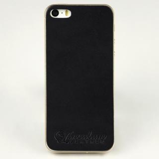本革栃木バックパネル IGLNOCENT イノセント ブラック iPhone SE/5s/5