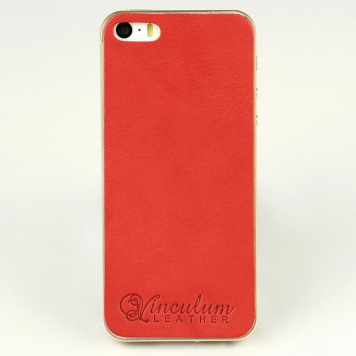 iPhone SE/5s/5 ケース 本革栃木バックパネル IGLNOCENT イノセント レッド iPhone SE/5s/5_0