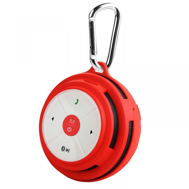 防滴仕様カラビナ付き Bluetooth スピーカー Mifa Mubit ムビット レッド