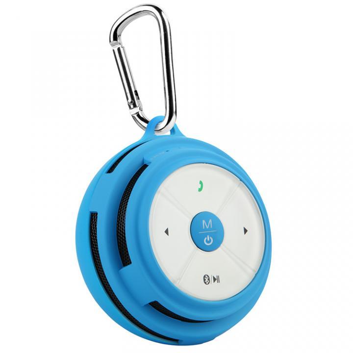 防滴仕様カラビナ付き Bluetooth スピーカー Mifa Mubit ムビット ブルー 送料無料