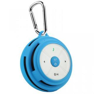 防滴仕様カラビナ付き Bluetooth スピーカー Mifa Mubit ムビット ブルー