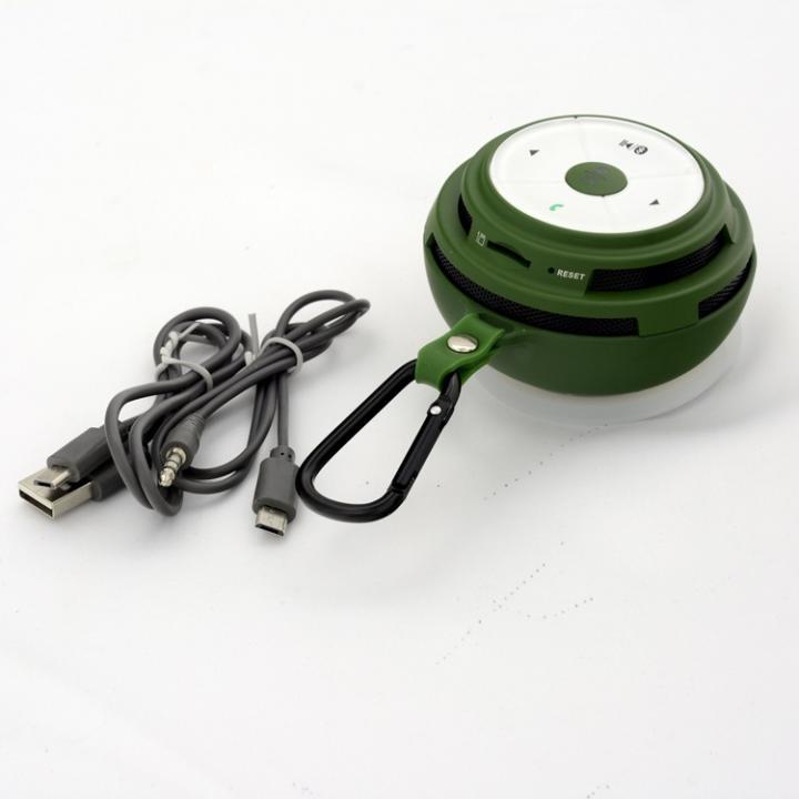 防滴仕様カラビナ付き Bluetooth スピーカー Mifa Mubit ムビット グリーン