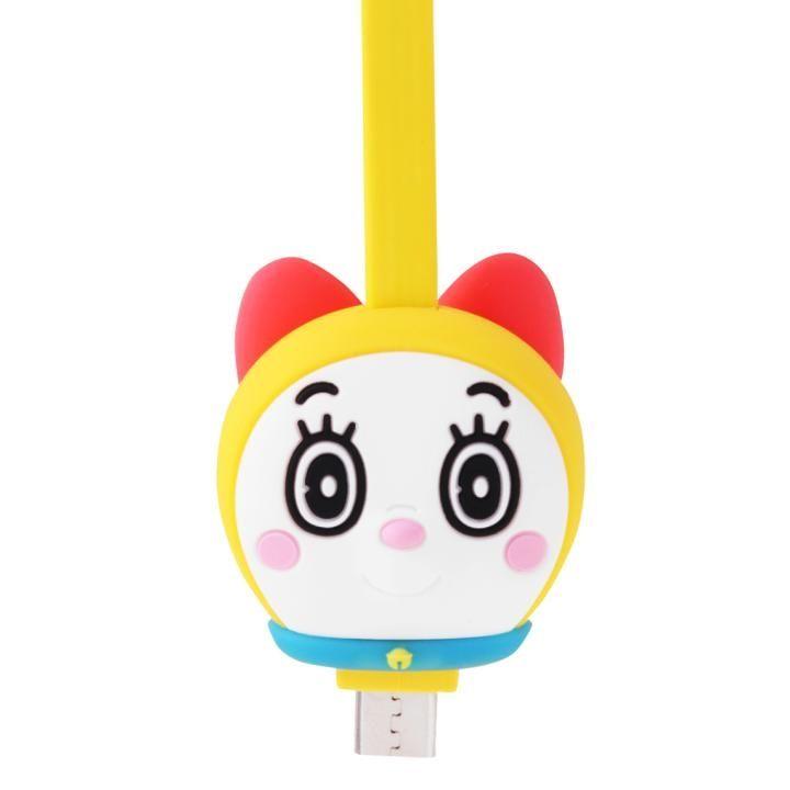 ドラミちゃんのかわいい充電MicroUSBケーブル 1.8A充電 データ通信対応_0
