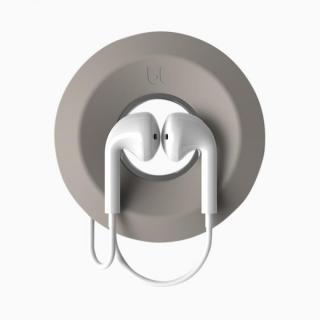 ケーブルヨーヨー・イヤフォンケーブル巻き取りホルダー ライトグレイ