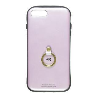 フィンガーリング付衝撃吸収背面ケース +R ラヴェンダー iPhone 8 Plus/7 Plus