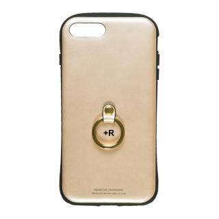フィンガーリング付衝撃吸収背面ケース +R シャンパンゴールド iPhone 8 Plus/7 Plus