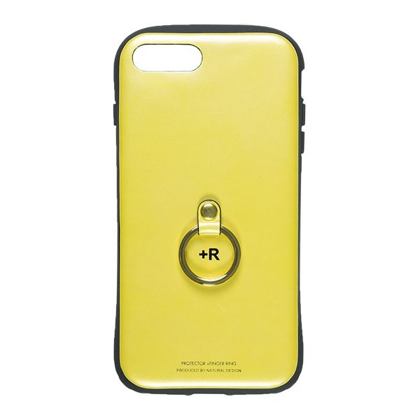 iPhone8 Plus/7 Plus ケース フィンガーリング付衝撃吸収背面ケース +R マスタード iPhone 8 Plus/7 Plus_0