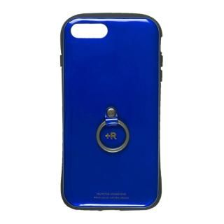【iPhone8 Plus/7 Plusケース】フィンガーリング付衝撃吸収背面ケース +R ウルトラマリン iPhone 8 Plus/7 Plus