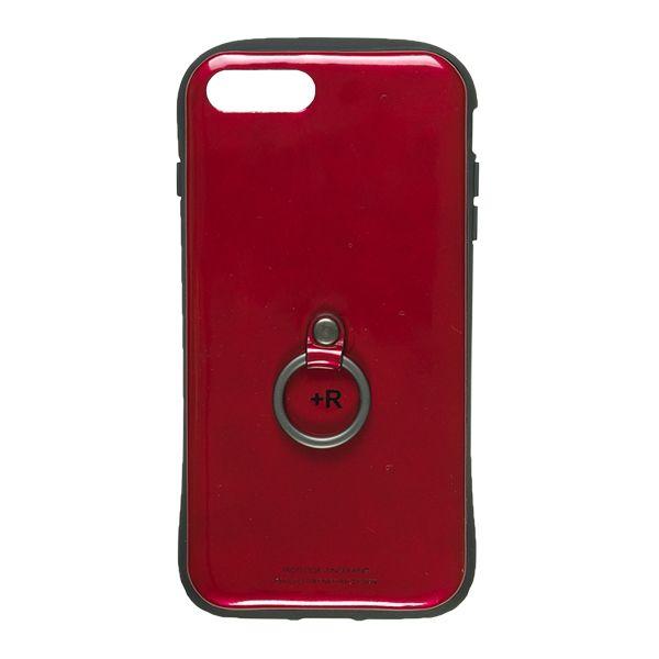 iPhone8 Plus/7 Plus ケース フィンガーリング付衝撃吸収背面ケース +R ソウルレッド iPhone 8 Plus/7 Plus_0