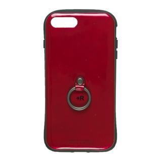 【iPhone8 Plus/7 Plusケース】フィンガーリング付衝撃吸収背面ケース +R ソウルレッド iPhone 8 Plus/7 Plus