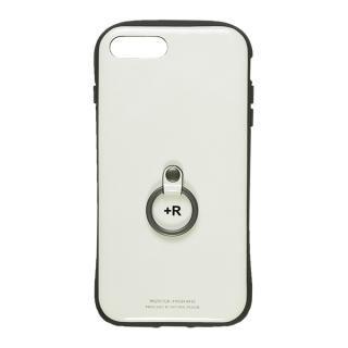 iPhone8 Plus/7 Plus ケース フィンガーリング付衝撃吸収背面ケース +R ピュアホワイト iPhone 8 Plus/7 Plus