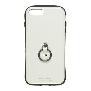 【iPhone8 Plus/7 Plusケース】フィンガーリング付衝撃吸収背面ケース +R ピュアホワイト iPhone 8 Plus/7 Plus