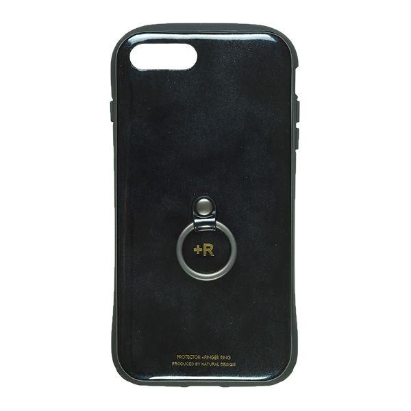 iPhone8 Plus/7 Plus ケース フィンガーリング付衝撃吸収背面ケース +R スペースブラック iPhone 8 Plus/7 Plus_0
