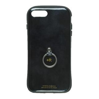 【iPhone8 Plus/7 Plusケース】フィンガーリング付衝撃吸収背面ケース +R スペースブラック iPhone 8 Plus/7 Plus