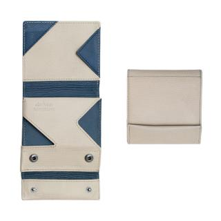 薄い財布 abrAsus(アブラサス) AppBankモデル アイボリー×ネイビー