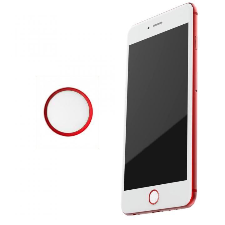 TouchID対応 ホームボタンシール iFinger レッド/ホワイト