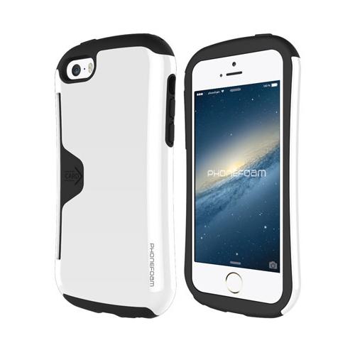 【iPhone SE/5s/5ケース】カード収納機能付ケース Phonefoam Golf Original ホワイト iPhone SE/5s/5_0