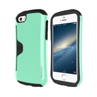 カード収納機能付ケース Phonefoam Golf Original ミント iPhone SE/5s/5