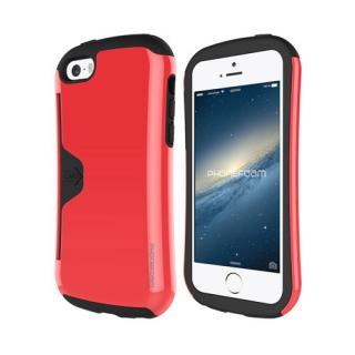 カード収納機能付ケース Phonefoam Golf Original レッド iPhone SE/5s/5