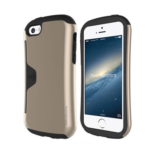 iPhone SE/5s/5 ケース カード収納機能付ケース Phonefoam Golf Original シャンパンゴールド iPhone SE/5s/5_0