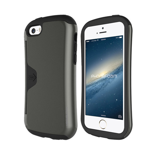 iPhone SE/5s/5 ケース カード収納機能付ケース Phonefoam Golf Original ダークシルバー iPhone SE/5s/5_0