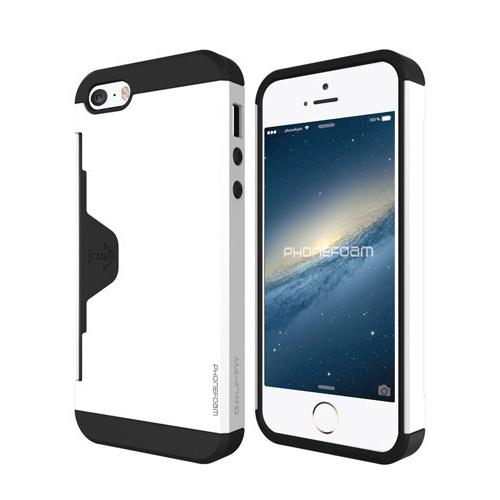 【iPhone SE/5s/5ケース】カード収納機能付ケース Phonefoam Golf Fit ホワイト iPhone SE/5s/5_0