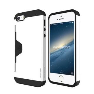 カード収納機能付ケース Phonefoam Golf Fit ホワイト iPhone SE/5s/5