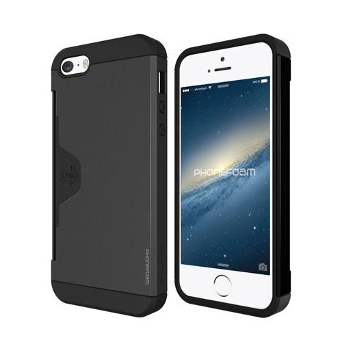 iPhone SE/5s/5 ケース カード収納機能付ケース Phonefoam Golf Fit ダークシルバー iPhone SE/5s/5_0