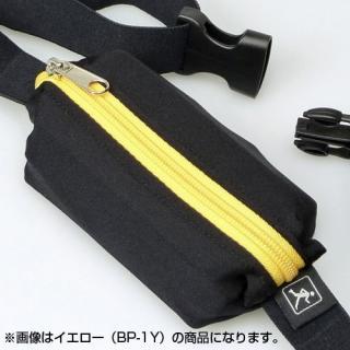 伸縮フリーサイズポーチ ブラック/オレンジ_5