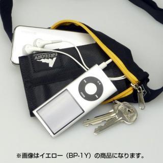 伸縮フリーサイズポーチ ブラック/オレンジ_6