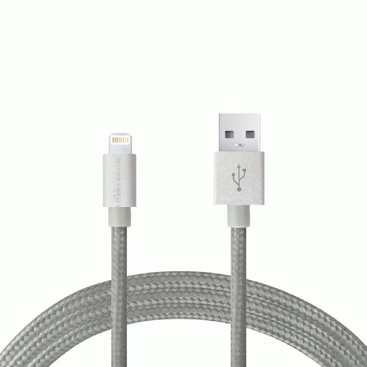 Lightningケーブル 1.2mアルミ製コネクター グレー_0