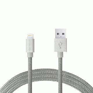 Lightningケーブル 1.2mアルミ製コネクター グレー