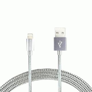 Lightningケーブル 1.2mアルミ製コネクター シルバー