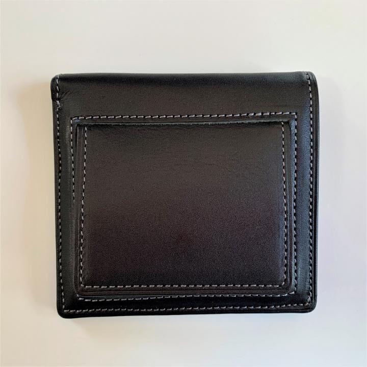 カードがたくさん入るのに薄い手の平財布(BOX小銭入れ付) BS03  ブラック_0